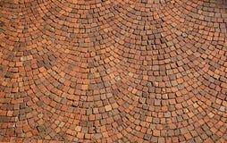 Struttura radiale della pavimentazione Fotografia Stock