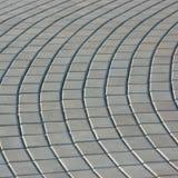 Struttura radiale della pavimentazione del Cobblestone Fotografie Stock Libere da Diritti
