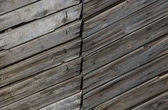Struttura rettangolare di Gray Barn Wooden Wall Planking Grey Shabby Slats Background rustico di legno anziano Buio del legno dur Fotografia Stock Libera da Diritti