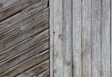 Struttura rettangolare di Gray Barn Wooden Wall Planking Grey Shabby Slats Background rustico di legno anziano Buio del legno dur Fotografie Stock Libere da Diritti