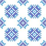 Struttura ricamata senza cuciture dei modelli blu astratti royalty illustrazione gratis