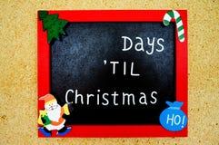 Struttura rimanente di giorni di Natale Fotografie Stock Libere da Diritti