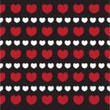 Struttura romantica con il giorno di S. Valentino dei cuori Modello per la carta da parati, modelli, fondo della pagina Web, stru royalty illustrazione gratis