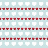 Struttura romantica con il giorno di S. Valentino dei cuori Modello per la carta da parati, modelli, fondo della pagina Web, stru Fotografia Stock