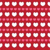 Struttura romantica con il giorno di S. Valentino dei cuori Modello per la carta da parati, modelli, fondo della pagina Web, stru Fotografie Stock Libere da Diritti