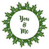 Struttura rosa blu del fiore del vario estratto dell'illustrazione di vettore con la decorazione della carta voi e me illustrazione di stock