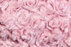 Struttura rosa della lana o della peluche Fotografia Stock Libera da Diritti