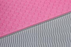 Struttura rosa della stuoia di yoga Fotografie Stock
