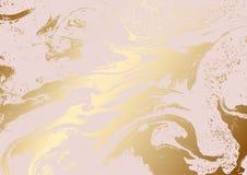 Struttura rosa metallica dell'estratto dell'oro Fotografia Stock