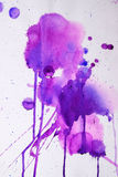 Struttura rosa porpora dell'acquerello Fotografia Stock