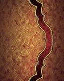 Struttura rossa astratta con l'ornamento Mascherina per il disegno copi lo spazio per l'opuscolo dell'annuncio o l'invito di annu Fotografie Stock