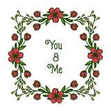 Struttura rossa astratta del fiore dell'illustrazione di vettore varia per l'insegna di voi e di me royalty illustrazione gratis