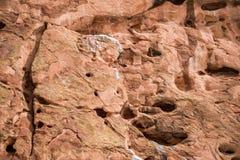 Struttura rossa del fondo della roccia Immagine Stock Libera da Diritti