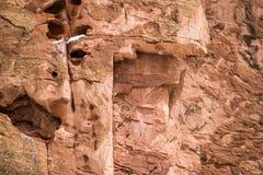 Struttura rossa del fondo della roccia Immagini Stock Libere da Diritti