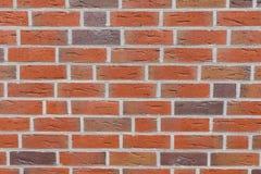 Struttura rossa del muro di mattoni Vista di contesto completo immagine stock libera da diritti