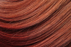 Struttura rossa del primo piano dei capelli Fotografie Stock