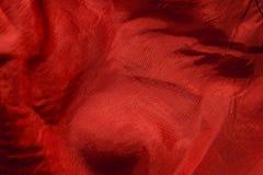 Struttura rossa del tessuto Fotografie Stock Libere da Diritti