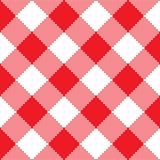 Struttura rossa del tessuto Illustrazione di vettore Fotografie Stock
