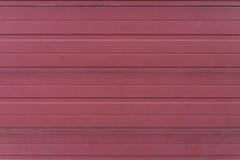 Struttura rossa della porta del garage Fotografia Stock