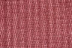 Struttura rossa della tela da imballaggio come fondo Fotografia Stock Libera da Diritti