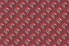 Struttura rossa della zolla delle gemme Fotografia Stock Libera da Diritti