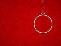 Struttura rossa di lerciume del fondo di Natale Fotografia Stock