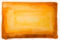 Struttura rossa e gialla della vernice di colore di acqua Immagine Stock Libera da Diritti