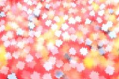 Struttura rossa vaga con i punti astratti Fotografia Stock