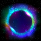 Struttura rotonda blu d'ardore Immagini Stock