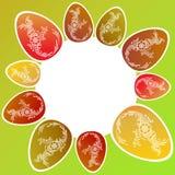 Struttura rotonda colorata dell'uovo di Pasqua illustrazione vettoriale