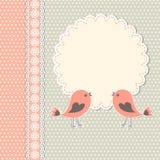 Struttura rotonda con due uccelli royalty illustrazione gratis