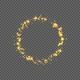 Struttura rotonda con effetto della luce d'ardore del bokeh illustrazione di stock