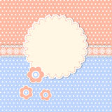 Struttura rotonda con i fiori illustrazione vettoriale