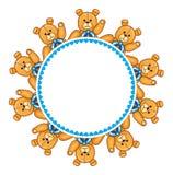 Struttura rotonda con Teddy Bears Immagini Stock