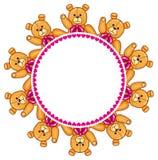 Struttura rotonda con Teddy Bears Immagine Stock