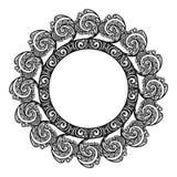 Struttura rotonda decorativa Immagine Stock