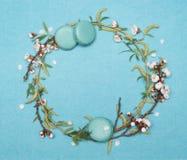 Struttura rotonda decorativa delle piante e della pasticceria dolce Fotografie Stock