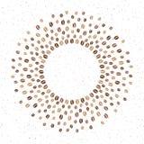 Struttura rotonda dei chicchi di caffè con spazio per testo Immagini Stock Libere da Diritti