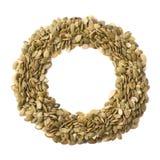 Struttura rotonda dei semi di zucca Fotografie Stock Libere da Diritti