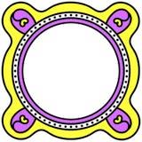 Struttura rotonda del confine della carta dell'invito illustrazione di stock