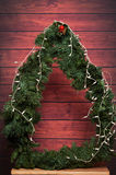 Struttura rotonda dell'albero di Natale Fotografie Stock