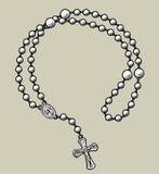 Struttura rotonda delle perle di preghiera Fotografie Stock