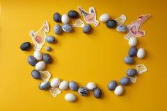 Struttura rotonda delle uova di Pasqua immagine stock