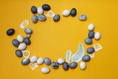 Struttura rotonda delle uova di Pasqua immagini stock libere da diritti