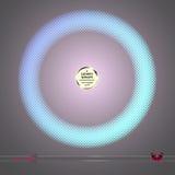 Struttura rotonda di vettore Elemento grafico astratto su fondo scuro Fotografie Stock Libere da Diritti