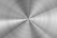 Struttura rotonda radiale spazzolata brillante del metallo d'acciaio Fotografia Stock