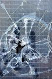 Struttura rotta della finestra Immagine Stock