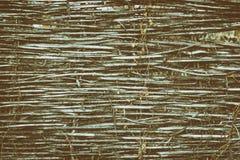 Struttura rustica del recinto dell'acacia - fondo d'annata rurale Immagine Stock