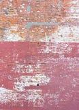 Struttura rustica e nociva del muro di mattoni fotografia stock