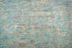 Struttura rustica metallica invecchiata con il blu ed il giallo Immagini Stock Libere da Diritti
